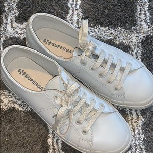 SUPERGA leather platform sneakers!